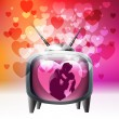 Love television — Stock Vector