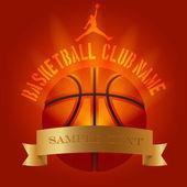 Basketball club decoration logo poster example — Stock Vector