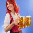 Beautiful wait staff at Oktoberfest — Stock Photo