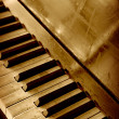 Old piano keyboard — Foto de Stock