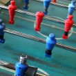 Stock Photo: Old worn foosball table