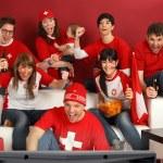 Schweizer Sport-Fans begeistert — Stockfoto