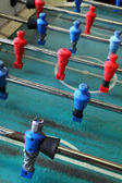 Old worn foosball table — Stock Photo