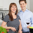 Royalty-Free Stock Photo: Happy couple in their kitchen