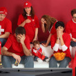Disappointed Swiss sports fans — ストック写真