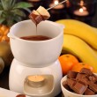 Chocolate fondue — Stock Photo #8013425