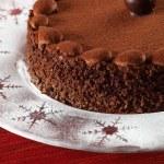 Chocolate truffle cake — Stock Photo