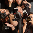 Too many photographers — Stock Photo