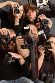 Too many photographers — Stock Photo