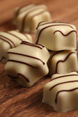 White chocolates — Stock Photo