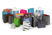 Many shopping bags — Stockfoto