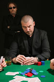 Serious poker player — Stock Photo