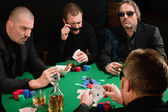 Group of poker players — Stock Photo