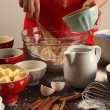 Making muffins — Stock Photo