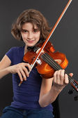 Practicing the violin — Stock Photo