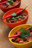 Bowls of chili — Stock Photo