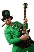 Leprechaun playing the guitar — Stock Photo