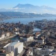 Winter cityscape of Lucerne Switzerland — Stock Photo