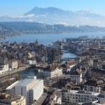 Winter cityscape of Lucerne Switzerland — Stock Photo