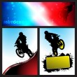 Vector motocross Collection background — Stock Vector