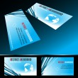 Vector four business card set — Stock Vector
