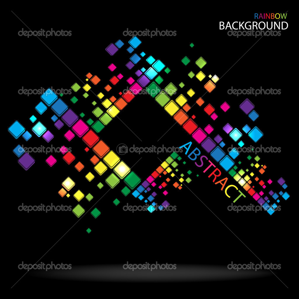 Rainbow colorful advertisement. Clip-art  Stock Vector #9075577