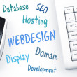 Webdesign word scheme and computer keyboard — Stock Photo #8015245