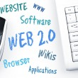 Web 2.0 word scheme and computer keyboard — Stock Photo #8015261