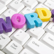 Words word made by colorful letters — Stock Photo