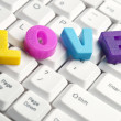 Love word made by colorful letters — Stock Photo #8015504