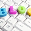 Blog word made by colorful letters — Stock Photo