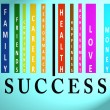 Success word on colored barcode — Stock Photo