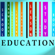 Stock Photo: Education word on colored barcode
