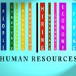 Human Resources  word on colored barcode — Stock Photo