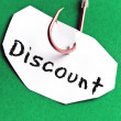 Discount message on paper — Stock Photo
