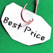 Best Price message on paper — Stock Photo