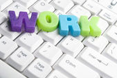 カラフルな文字によって行われた仕事の単語 — ストック写真