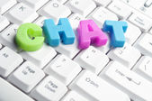 Chat word made by colorful letters — Stock Photo