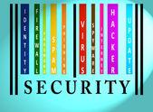 Palavra de segurança em código de barras colorida — Fotografia Stock