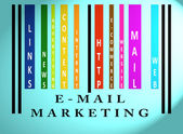 E-mail Marketing word on colored barcode — Stock Photo