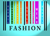 Fashion word on colored barcode — Stock Photo