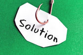 Solution message on paper — Stock Photo