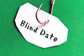 Blind Date message on paper — Stock Photo