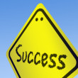 Stock Photo: Success word on road sign
