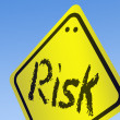 Risk word on road sign — Stock Photo