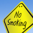 No Smoking word on road sign — Stock Photo