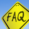 Stock Photo: FAQ word on road sign