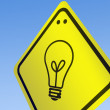 Royalty-Free Stock Photo: Bulb Shape on road sign