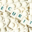 Stock Photo: Security word made by leter pieces