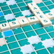 Business and taxes word made by letter pieces — Stock Photo